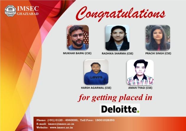 #Congratulates B.Tech #student for getting placed in #deloitte